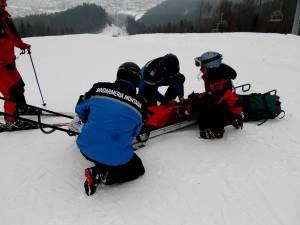 Achident la schi