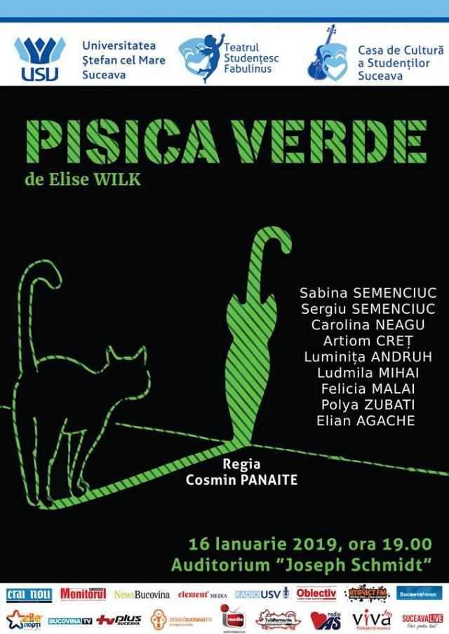 """Pisica verde"", spectacol gratuit, la USV"