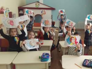 """Preşcolarii și școlarii de la Grădinița și Școala """"Sf. Ioan cel Nou de la Suceava"""" l-au sărbătorit marţi pe Eminescu"""