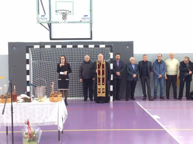 """Sala de sport de la Şcoala """"Mihai Eminescu"""" a fost reabilitată"""