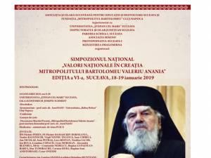 """Simpozionul Național  ,,Valori Naționale în creația Mitropolitului Bartolomeu Valeriu Anania"""", la USV"""