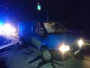 Mașina implicată în accident. Foto: Monitorul de Botoșani