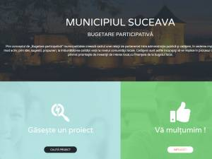 Platforma online pentru bugetul participativ al Sucevei
