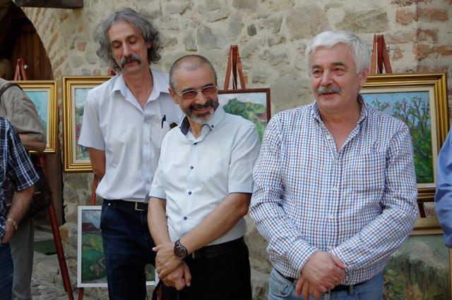 Fondatorii Grupului Domino - Iulian Dziubinski, Tiberiu Cosovan, și Iosif Csukat