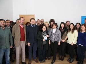 Deputatul Daniel Popescu alături de membrii filialei USR Câmpulung Moldovenesc