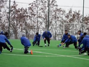 Rădăuţenii se antrenează intens în cantonamentul de la Suceviţa. Foto Cristian Plosceac