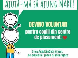 Apel la voluntariat pentru educația copiilor din centrele de plasament din județ