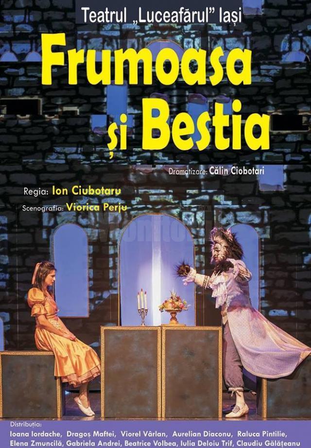"""""""Frumoasa și Bestia"""", cu două reprezentații, azi, la Teatrul """"Matei Vișniec"""" Suceava"""