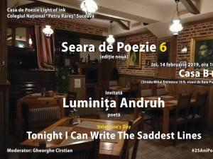 """""""Seară de poezie"""", alături de poeta Luminița Andruh"""