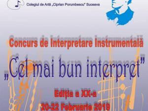 """Concursul de interpretare instrumentală """"Cel mai bun interpret"""""""