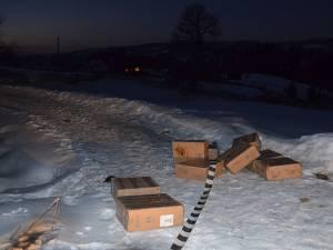 Contrabandă cu mii de pachete de ţigări, la Lupcina şi Siret