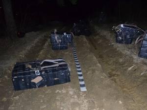 15.000 de pachete de ţigări capturate cu focuri de armă la graniţă