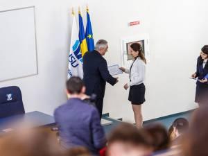 Andreea Carmen Bădăluță - Doctoranda anului la  Școala Doctorală de Științe Aplicate și Științe Inginerești (foto Digital Media Center)