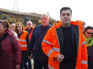 Ministrul Transporturilor a inspectat vineri lucrările la şoseaua de centură a Sucevei