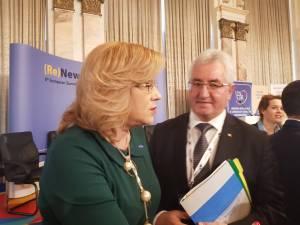 Ion Lungu, prezent la București, la Palatul Parlamentului, la al 8-lea Summit European al Regiunilor și Orașelor