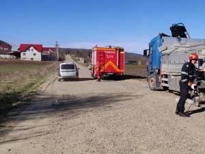 Camionul implicat în accident