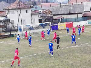 Bucovina Pojorâta s-a impus la  limită în duelul cu ASA Rarău Campulung Moldovenesc  Foto: Andreea  Ardeleanu