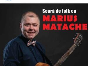 Seara de folk cu Marius Matache, la Universitate