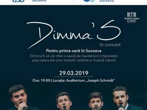 Grupul vocal de pop-opera Dimma'S, în concert la Suceava