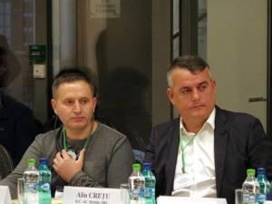 Alin Creţu (dreapta), preşedintele Asociației Transportatorilor de Mărfuri din Bucovina