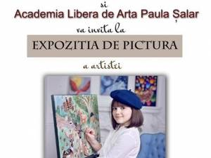 Expoziţia de pictură a artistei Ioana Holca, în vârstă de 10 ani, la Galeria Bibliotecii Bucovinei