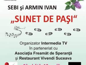 """Albumul """"Sunet de paşi"""", de Sebi Crăciun şi Armin Ivan, va fi lansat la Suceava"""