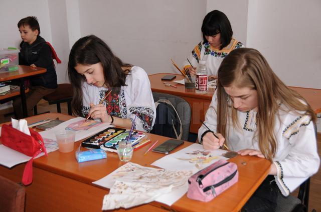 52 de copii au participat la faza directă de pictură și grafică de la Seminarul Teologic Suceava