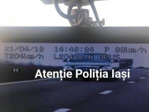Șofer prins de radar cu 204 km/h, în apropiere de Dărmănești