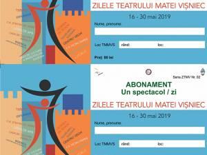 """Abonamente pentru spectacolele din cadrul Festivalului Zilele Teatrului """"Matei Vișniec"""""""