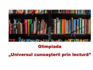Olimpiada Universul Cunoașterii prin Lectură, pentru elevii din mediul rural