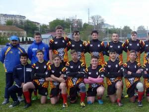 Echipa de rugby CSS Gura Humorului după meciul de la Galaţi
