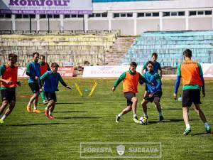 Forestierii au pregătit în linişte meciul cu Miroslava
