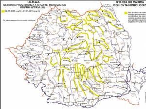 Cod galben de inundaţii pentru trei râuri din judeţul Suceava
