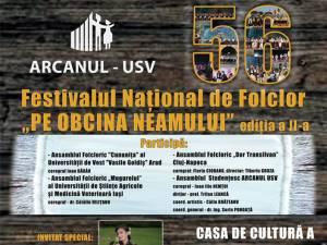 """Festivalul Naţional de Folclor """"Pe obcina neamului"""", ediţia a II-a"""