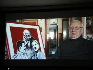 """Radu Bercea, protagonistul filmului """"Istoria unui destin"""", prezentat tinerilor în cadrul evenimentului"""