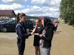 În timpul acţiunii au fost distribuite materiale informaţionale despre modul de protejare a locuinţei