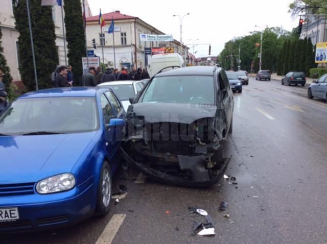 Accident rutier în centrul Rădăuţiului