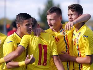 Sebastian Nechita, cu numărul 6 pe tricou, a marcat un gol pentru naţionala de juniori
