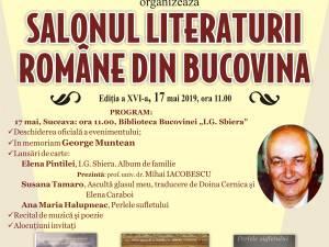 Salonul Literaturii Române din Bucovina, ediţia a XVI-a, la Biblioteca Bucovinei