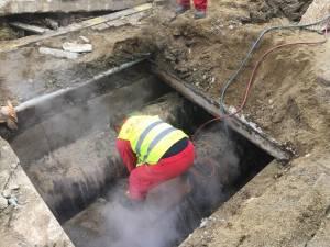 Avarie la magistrala de termoficare a cartierului Burdujeni