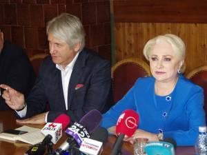 Premierul României, Viorica Dăncilă, și ministrul Finanțelor publice, Eugen Teodorovici
