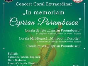 "Concertul Coral Extraordinar ""In memoriam Ciprian Porumbescu"""