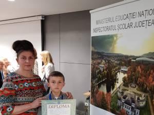 Elevul Florin Corbuleac și prof. Lenuța Violeta Leuștean