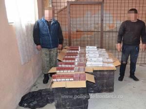 Cei doi cetățeni ucraineni au fost reținuți de polițiștii de frontieră suceveni iar pachetele de țigări de contrabandă au fost confiscate