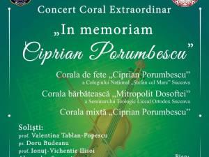 """Concert Coral Extraordinar """"In memoriam Ciprian Porumbescu"""", la Casa de Cultură"""