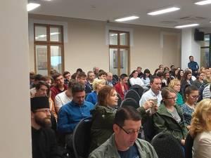 Conferința savantului Moshe Idel - Idiș, o lungime de undă specială. Idișul între română și ebraică Foto: Muzeul Bucovinei
