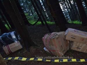Poliţiştii de frontieră au reţinut aproape 4.000 de pachete de ţigări de contrabandă