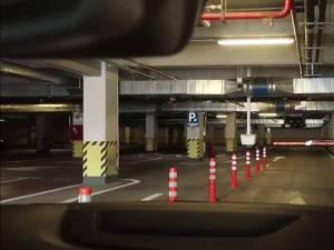 Sistemul de acces cu bariere din parcarea subterana