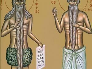 Sfinţii Cuvioşi Onufrie cel Mare şi Petru Atonitul