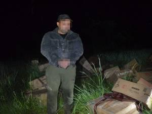 Contrabandist ucrainean reţinut şi ţigări de contrabandă, de aproape 100.000 de euro, confiscate la Bilca